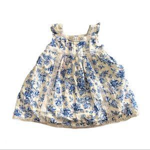 Maggie & Zoe Blue Floral Dress Baby Girl Summer